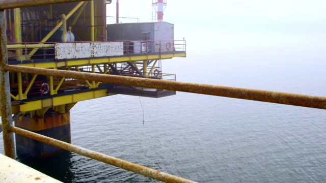 Offshore gas production platform in the East-Kazantip field video