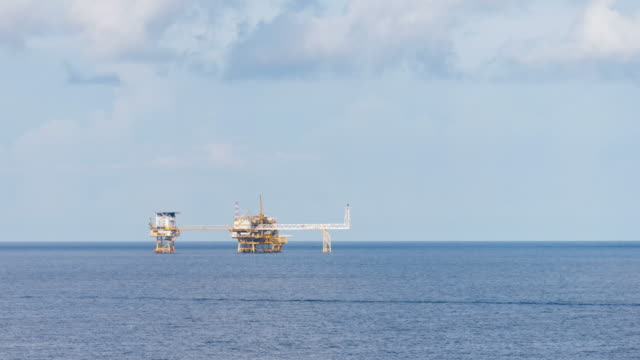 offshore oil and gas platform video