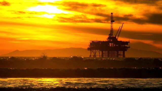 Offshore Oil Production Platform video