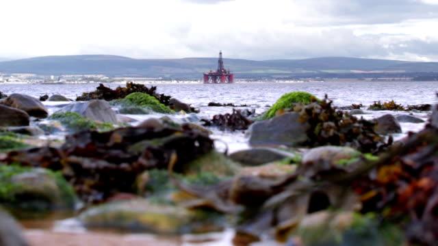Offshore oil rig platform video