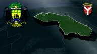 Ogooue-Ivindo - Makokou whit Coat of arms animation map video