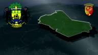 Ogooue-Lolo - Koulamoutou whit Coat of arms animation map video