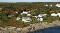 Ogunquit Seafront  - Aerial View - Maine,  York County,  United States video