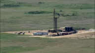 Oil And Gas Drilling  - Aerial View - Montana, Roosevelt County, United States video