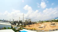 Oil and petrochemical plant - Time lapse video