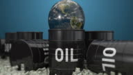 Oil barrels and Earth video