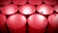 Oil Barrels Moving on the Screen. Looped Business Concept 3d animation. HD 1080. video