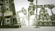 Oil derricks made of money video