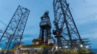 oil drilling rig 4k time lapse night to day video