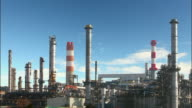 Oil indutry refinery - factory video