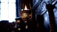 Oil lamp in Orthodox Church video
