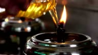 oil lamps fill video