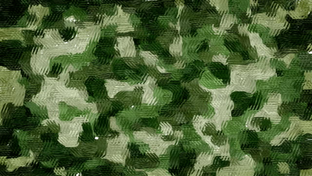 Oil painted khaki camouflage background video