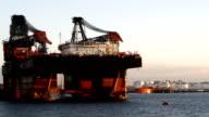 oil platform under construction (1080p) video