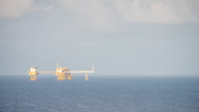 oil production platform time lapse day time video