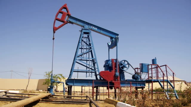 Oil Pump. Extraction of Oil Pumping Station video