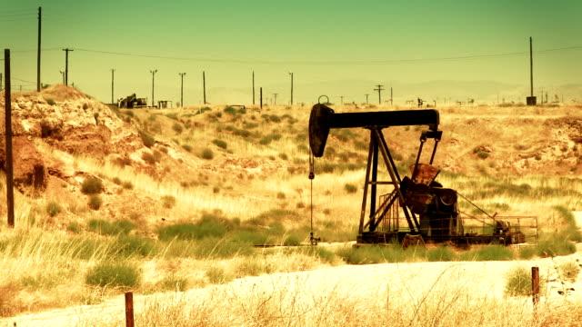Oil Pump in the Desert - HD video
