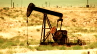 Oil Pump in the Desert - HD video