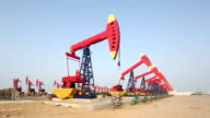 Oil pump. Oil industry equipment. video