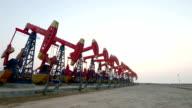 Oil pump. Oil industry equipment. video