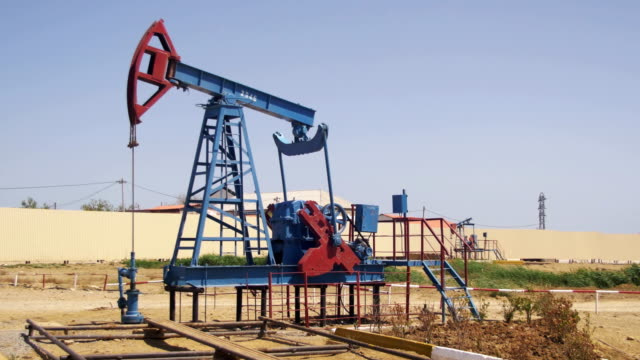 Oil Pump, Pump jack. Fossil Fuel Energy, Old Pumping Unit video
