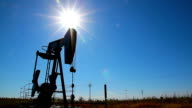 Oil Pump With Bright Sun video