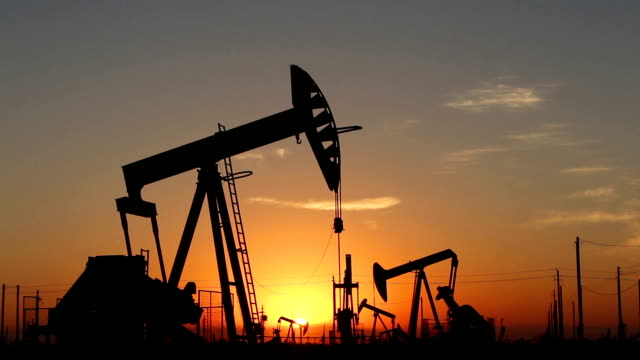 Oil Pumps at Sunrise video