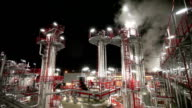 Oil Refinery by Night video