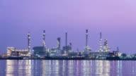 4K-UHD, Oil Refinery - Dawn video