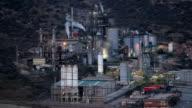 Oil refinery facilities video