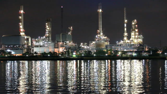 Oil refinery - Industry plant video