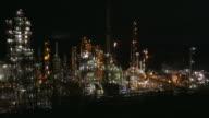 Oil Refinery Night video