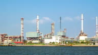 Oil Refinery ,Panning Shot video