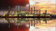 Oil refinery - petrochemical plant video
