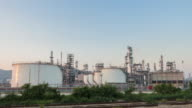 Oil Refinery Plant day to night video