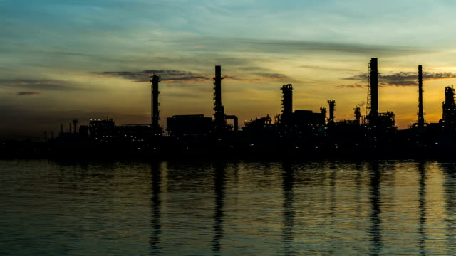 Oil Refinery Plant Time Lapse video