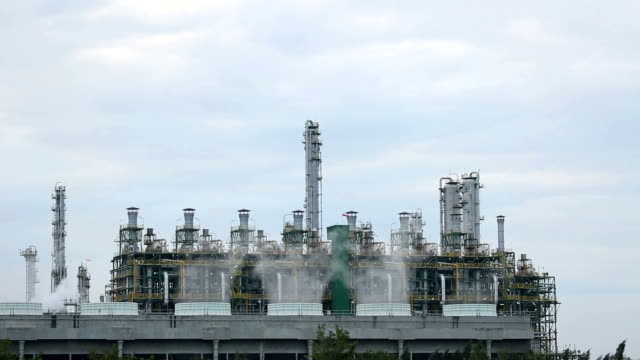 Oil refinery plant video