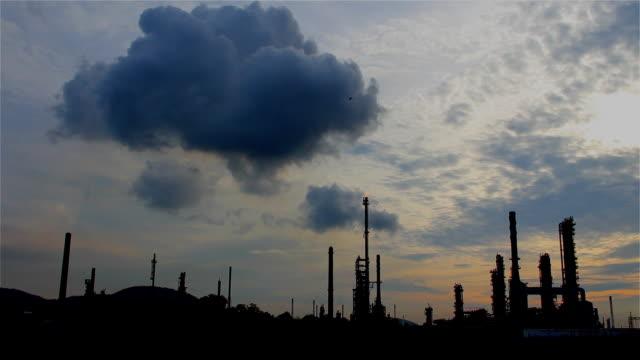 Oil Refinery Smoke Stack video