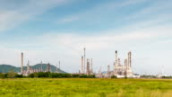 Oil refinery, Time lapse video