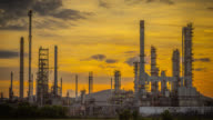 Oil refinery time lapse video