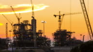 Oil Refinery Twilight video
