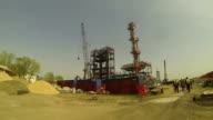 Oil Refinery Under Construction video