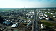 AERIAL: Oil Refinery video