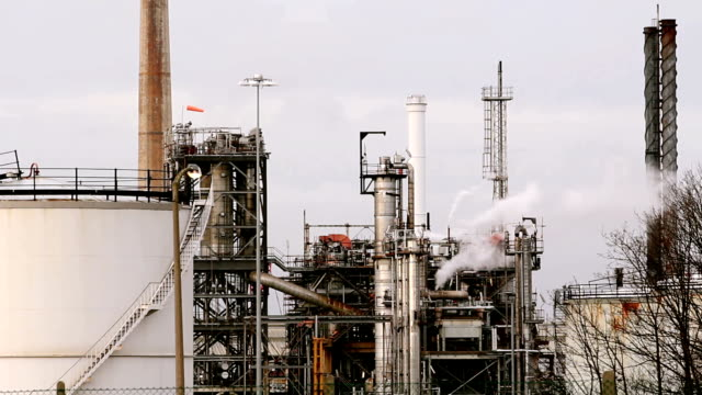 Oil Refinery With Tanker video