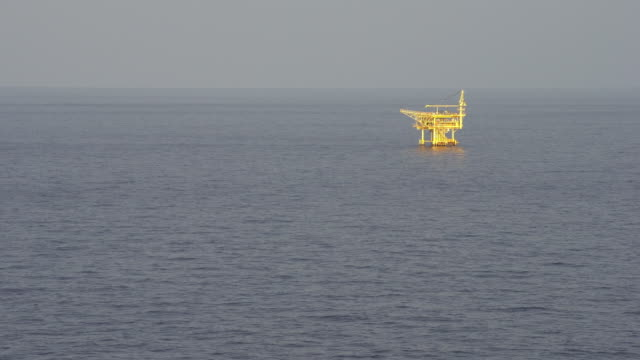 oil remote platform structure in the ocean video