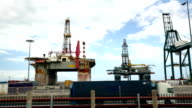 Oil Rig with traffic video