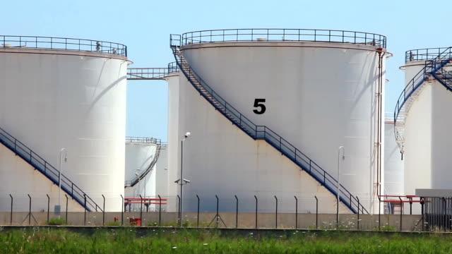 Oil storage tanks in Antalya, Turkey video