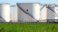 Oil storage tanks in Antalya, Turkey video