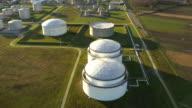 AERIAL Oil storage tanks video