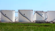 Oil storage tanks video